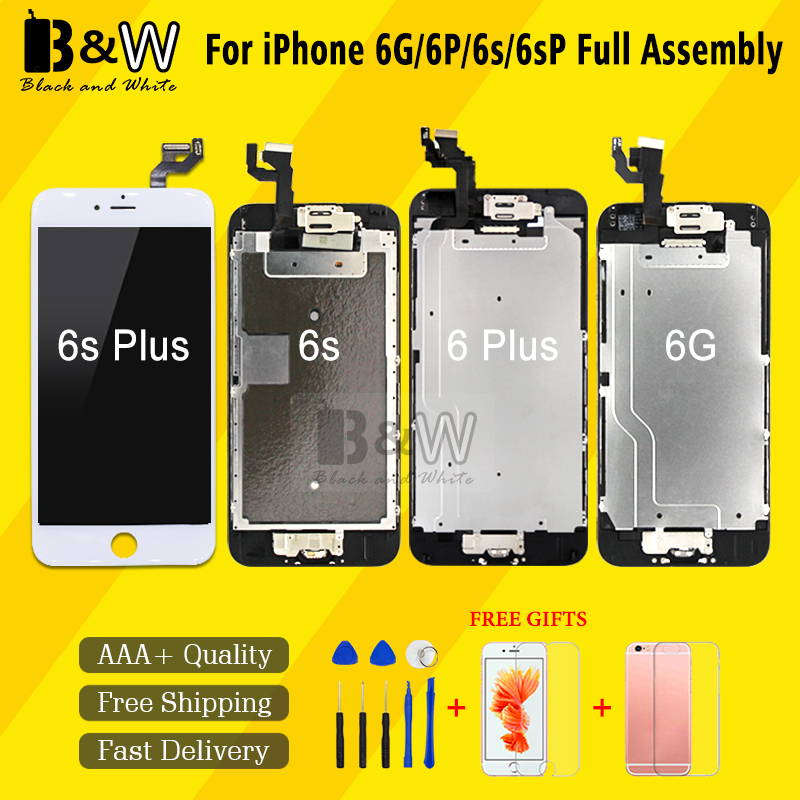 Retail Sell China Alibaba Great Quality Replacement For IPhone 6g 6p 6s 6sp LCD Display LCD Digitizer Touch Screen Full Assembly