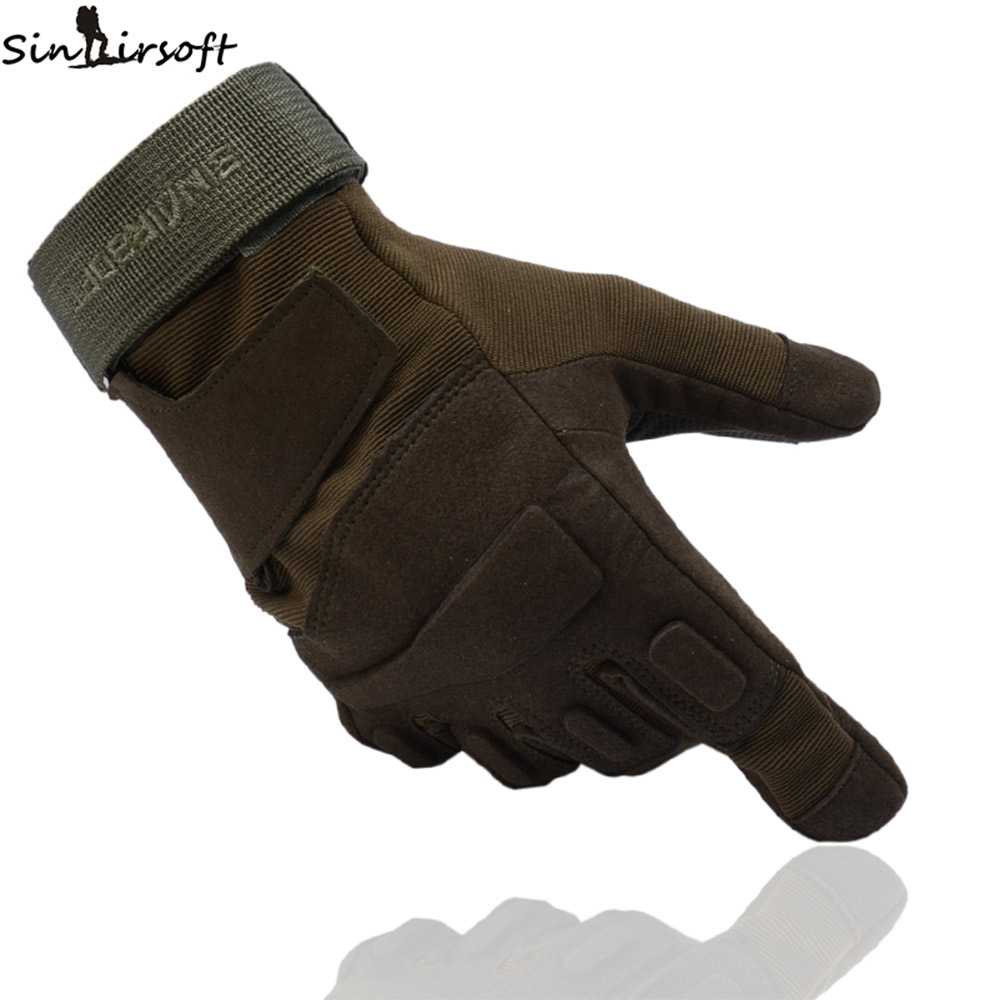 SINAIRSOFT Tactical non-slip riding Full Finger Gloves Army Military Breathable Nylon Airsoft Shooting double Gloves new anti slip full finger outdoor military airsoft hunting cycling tactical gloves workplace safety protection glove