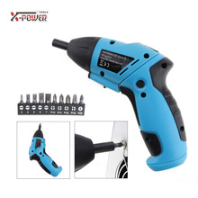 Mini 6V Battery Operated Cordless Electric Screwdriver Household Screw Driver Power Tools with LED Lighting Bidirectional Switch