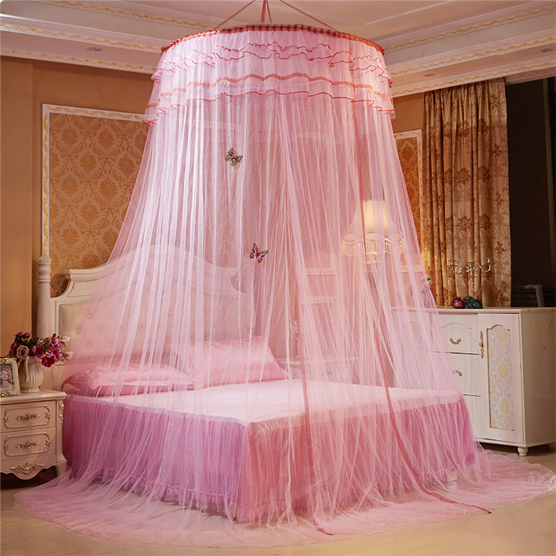 Luxury Romantic Hang Dome Mosquito Net Princess Students Insect Bed Canopy Netting Lace Round Mosquito Nets Curtain for Bedding-in Mosquito Net from Home ... & Luxury Romantic Hang Dome Mosquito Net Princess Students Insect ...