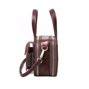 Image 3 - Cobbler Legend женские сумки из натуральной кожи на двойной молнии сумки для женщин 2019 знаменитые бренды дизайнерские сумки через плечо винтажные