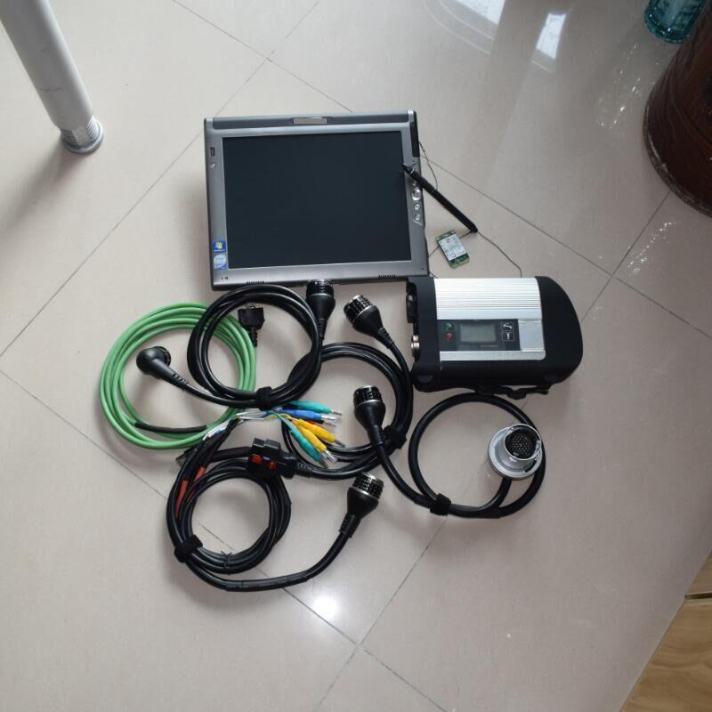 Звезда C4 Sd Connect для Benz автомобилей и грузовиков инструмент диагностики авто (12 В + 24 В) с программным обеспечением ssd 240 ГБ и планшетных ПК LE1700 к