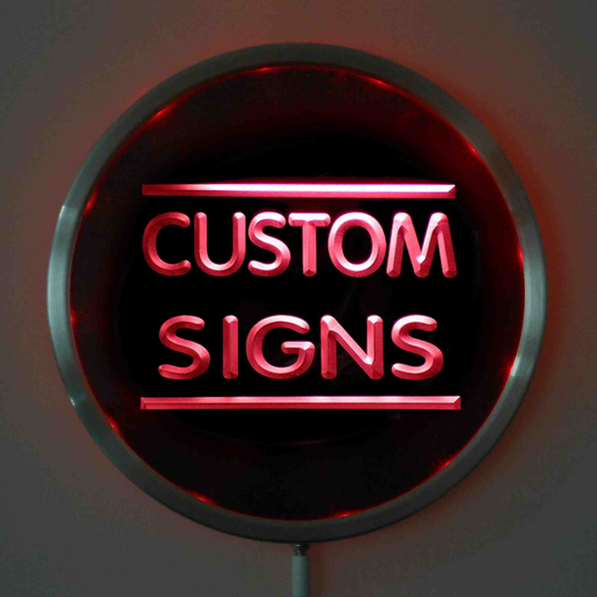 New Round Custom LED Neon Signs 25cm/ 10 Inch - Design Your Own Circle LED Signs With RGB Multi-Color Remote Wireless Control