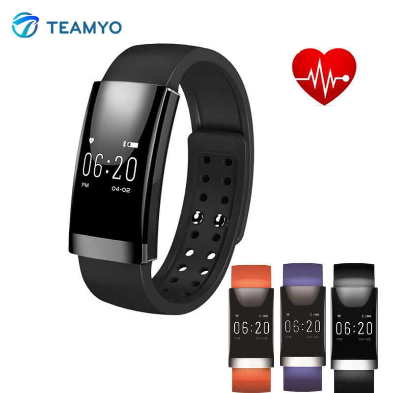 Teamyo MS01 Bluetooth Smart Wristband Fitness Tracker Heart Rate Smart Bracelet monitor cardiaco Sleep Monitor Remote