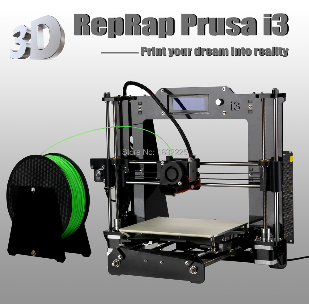 Auto leveling High Precision Reprap Prusa i3 DIY 3d Printer kit impressora 3d with 2 Roll Filament 8GB SD card+LCD for Free