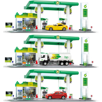 New 1:64 Scale model British BP Gas Station Fuel tank truck famous brand diecast SUV X6 super sport metal car Z4 toy with light