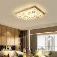 Hot Top Rectangle Square Modern Led Chandelier For Living Room Bedroom Study Room Plafonnier Led Moderne