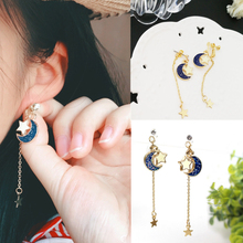 Anime Sailor Moon 25t Blue Star Eardrop Earrings Cosplay Prop