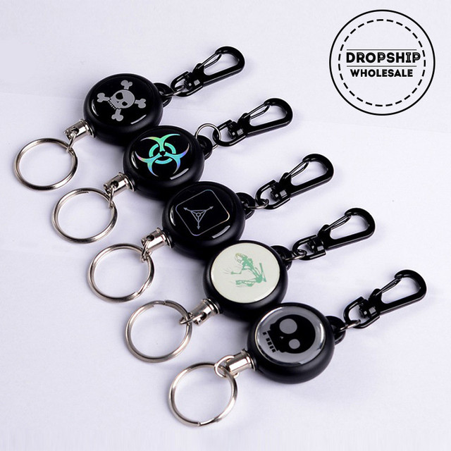 Retractable TAD Quickdraw Key Ring Safety Anti-lost Badge Recoil Wire Keychain EDC Pocket Camping Keeper Survival Outdoor Gear