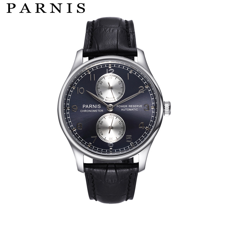 Parnis 40mm Men Watches SeaGull Automatic Mechanical Watch Power Reserve See Through Top Brand Luxury Black Dial Wristwatch stylish sleeveless jewel neck plaid midi dress for women