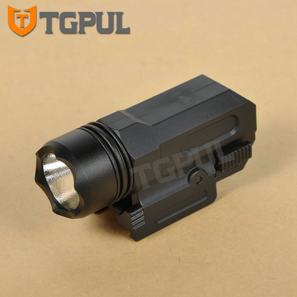 TGPUL Airsoft Mini Pistol Light QD Quick Detach Handgun Flashlight LED Rifle Gun Tactical Torch for 20mm Rail Glock 17 19 18C 24