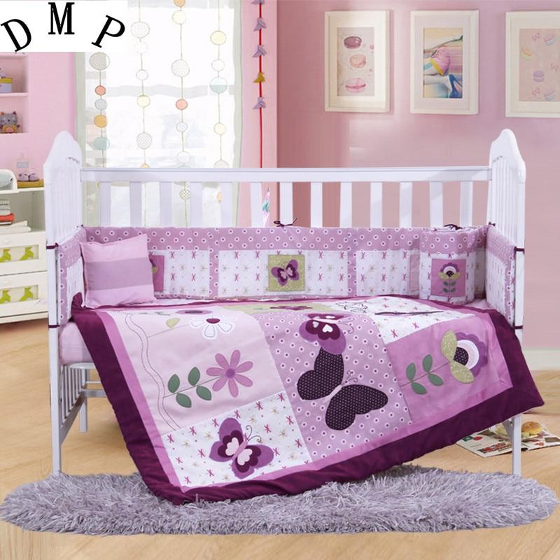 7PCS Embroidery crib baby bedding set baby sheet head bumper ,include(bumper+duvet+sheet+pillow) promotion 7pcs embroidered baby crib bedding set lovely animal crib bumper set baby bumper 2bumper duvet sheet pillow