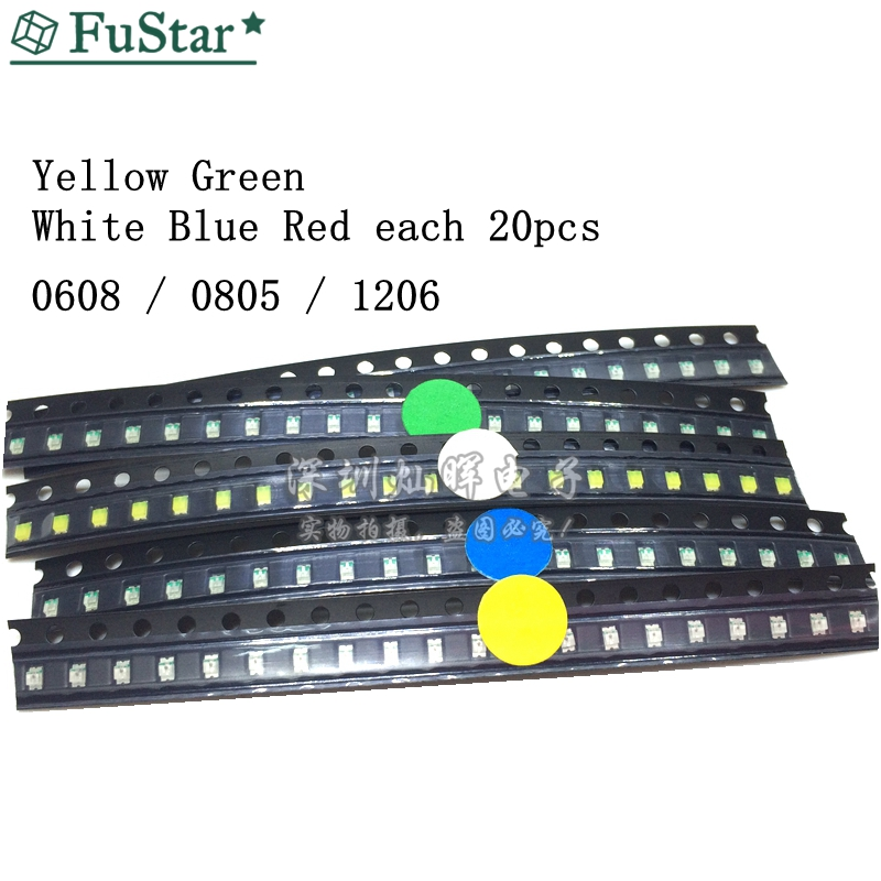 1000Pcs 0805 Blue Super Bright Led Leds Lamp Light Smd zv