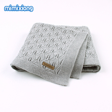 Baby Blankets Knitted Newborns Swaddle Stroller Bedding Covers Solid Infant Sofa Quilts 100*80cm Toddler Kids Blankets Play Mats