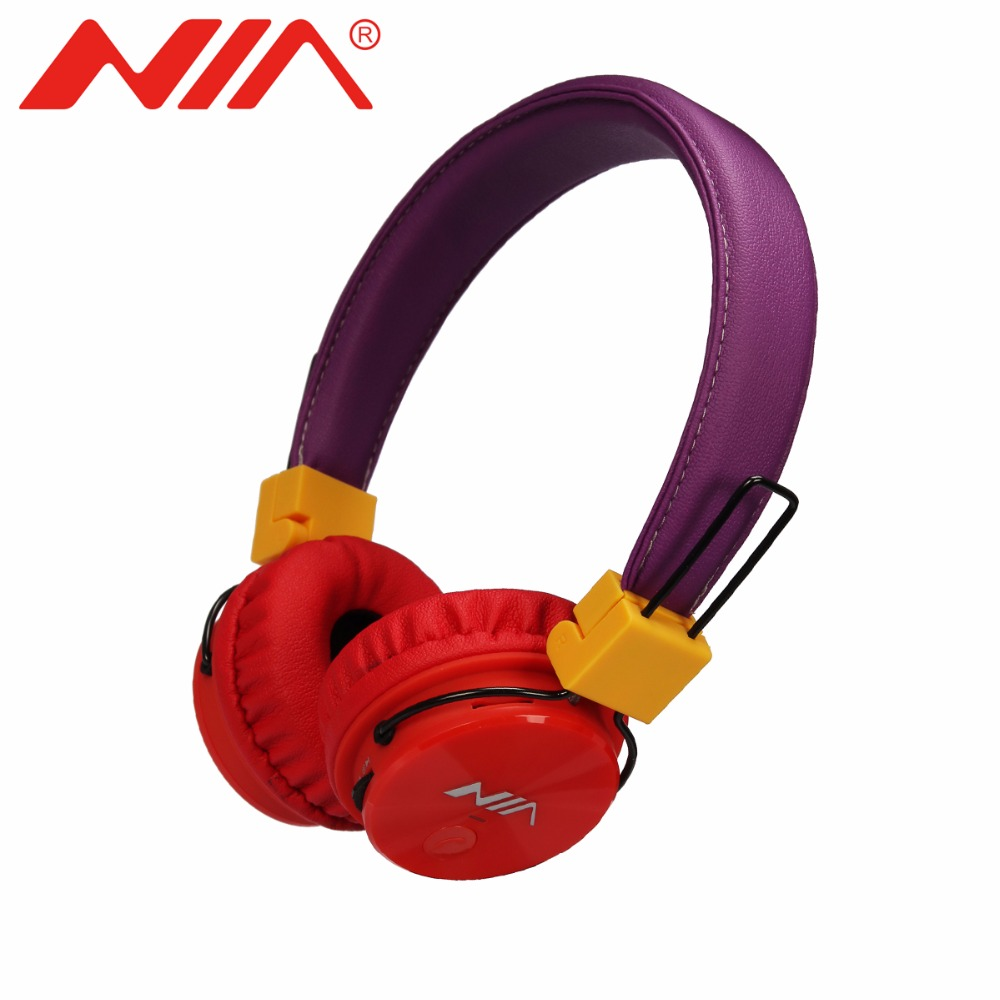 NIA X3 Original Wireless Headphone Foldable Bluetooth Stereo Headsets with Mic Support TF Card FM Radio Portable Earphone nia 1682s original stereo headphones 10 colors collapsible music player portable headset support tf card fm radio free shipping