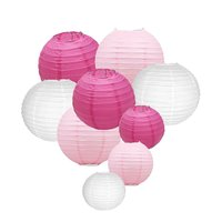 Pack Of 9 Paper Lanterns 12 10 8 Round Lanterns For Birthday Wedding Baby Showers Party