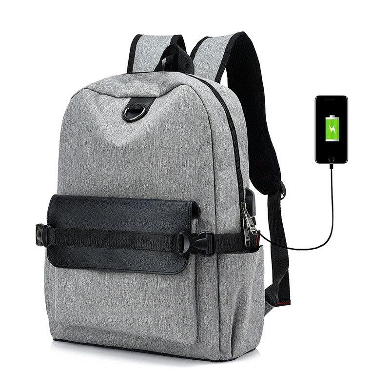 Interface de chargement usb externe sacs à dos sac à dos de voyage en toile sac à dos multifonctionnel sac pour lycéens