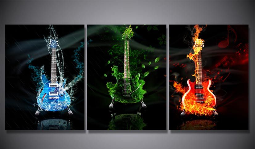HD Printed Electric guitar Art Painting on canvas room decoration ...