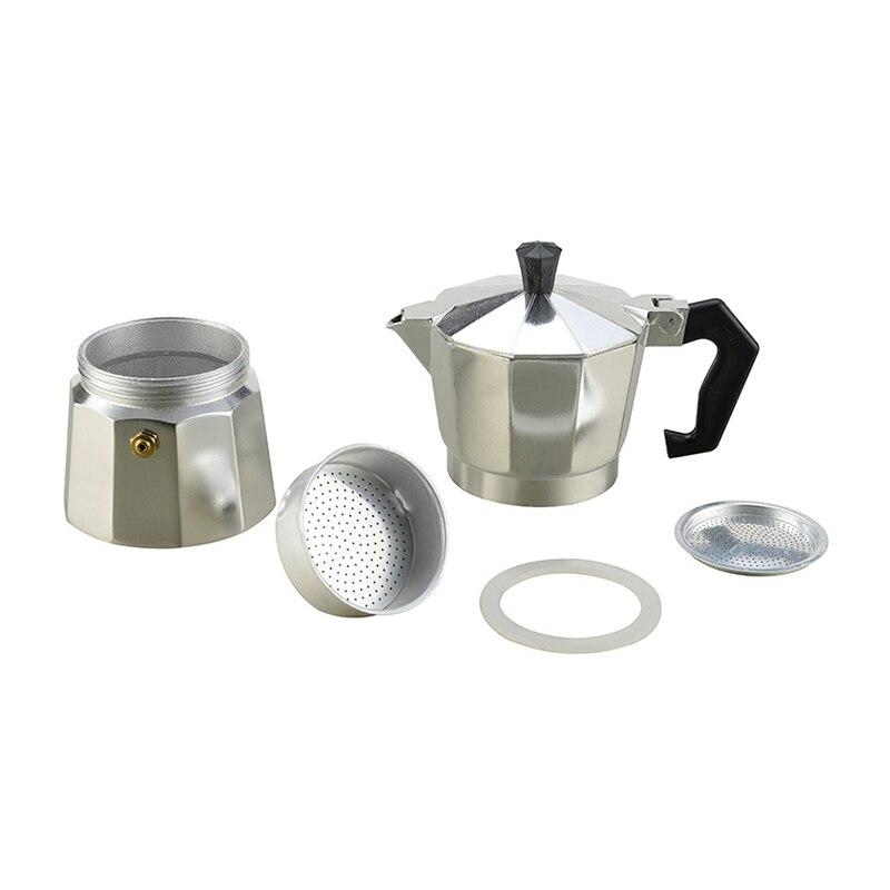VOCORY Coffee Maker Aluminum Mocha Espresso Percolator Pot Coffee Maker Moka Pot 1cup/3cup/6cup/9cup/12cup Stovetop Coffee Maker 3