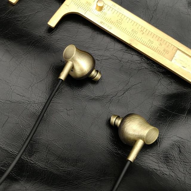 2016 New Moondrop IX In Ear Earphone HIFI Fever DJ Retro Copper Metal Earphone Headset Earplugs Earbud Free Shipping