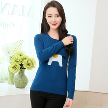 2017 New Hot Fashion Pony Pattern Knitted Pullover Slim Round neck Cashmere Sweater Conventional Models Authentic Free shipping
