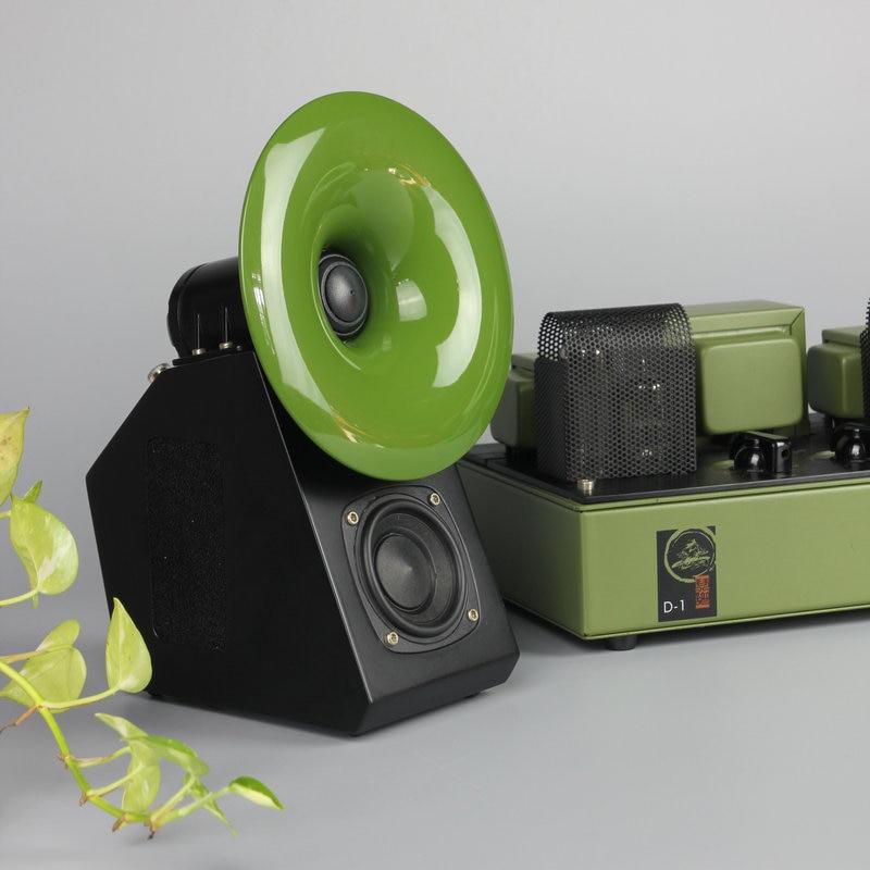 QinPu D 1+ S 2 pure desktop hifi tube amplifier horn speaker