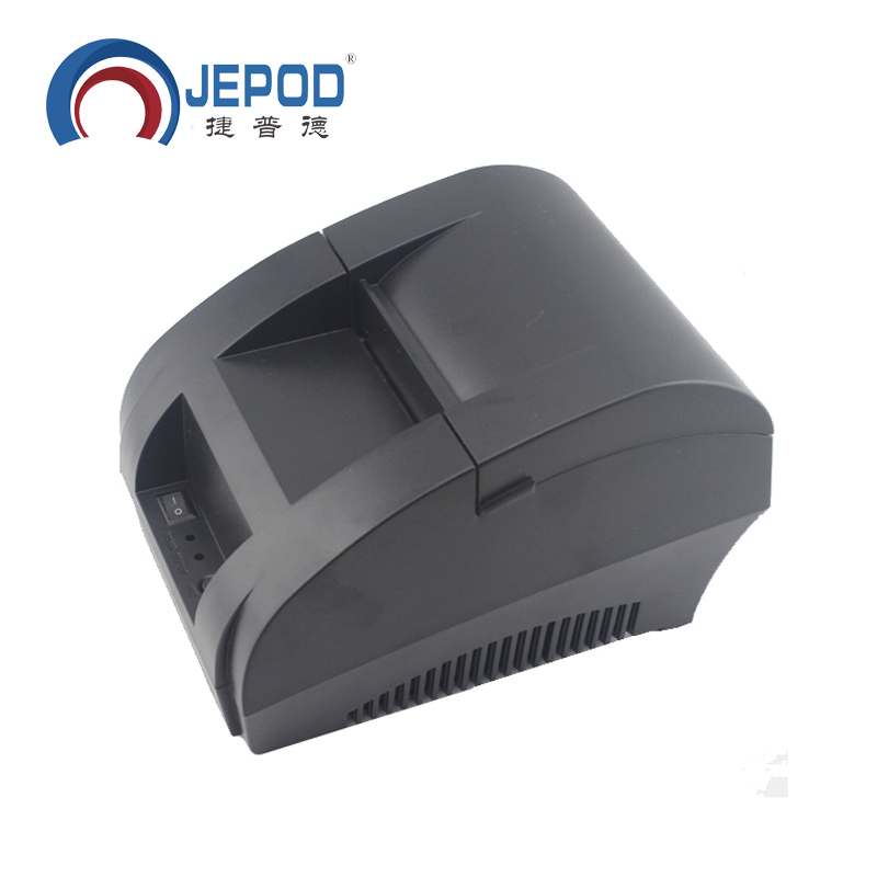 JP 5890K Mini 58mm Black Printer POS Receipt Thermal Printer Built in Power Adapter with USB