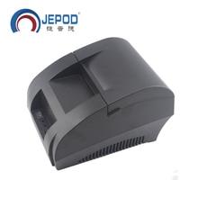 JP-5890K Mini 58mm Noir Imprimante POS Réception Imprimante Thermique Construit en Puissance Adaptateur avec USB Port UE Plug