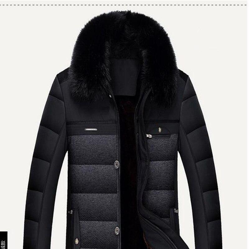 2016 Hot Sale Winter Jacket Men Parka Warm Male Thick Outerwear Turn Down Fur Collar Short