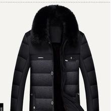 2016 Hot Sale Winter Jacket Men Parka Warm Male Thick Outerwear Turn Fur Collar Short Luxury Jacket Pocket Overcoat  MK410
