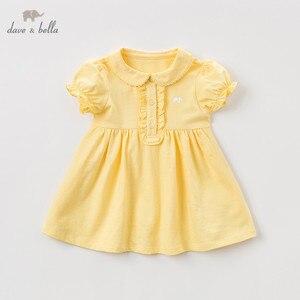 Image 3 - DBQ9635 ديف بيلا الصيف طفلة الأميرة لطيف الصلبة اللباس أزياء الأطفال حزب اللباس الاطفال الرضع لوليتا الملابس