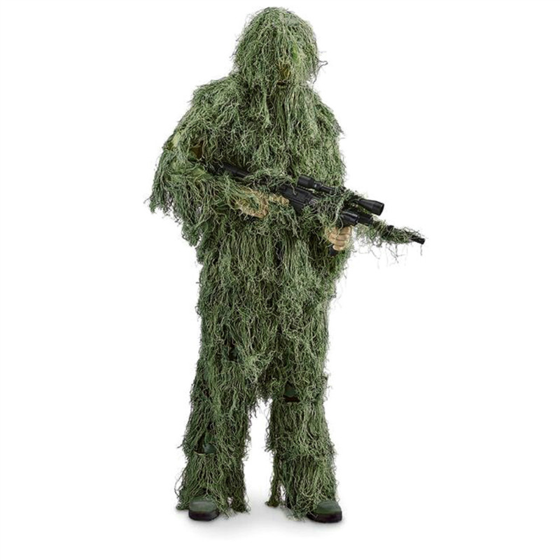 ФОТО OneTigris Polyester Durable Camouflage Ghillie Suit Woodland Sniper Camo Jungle Hunting Birding