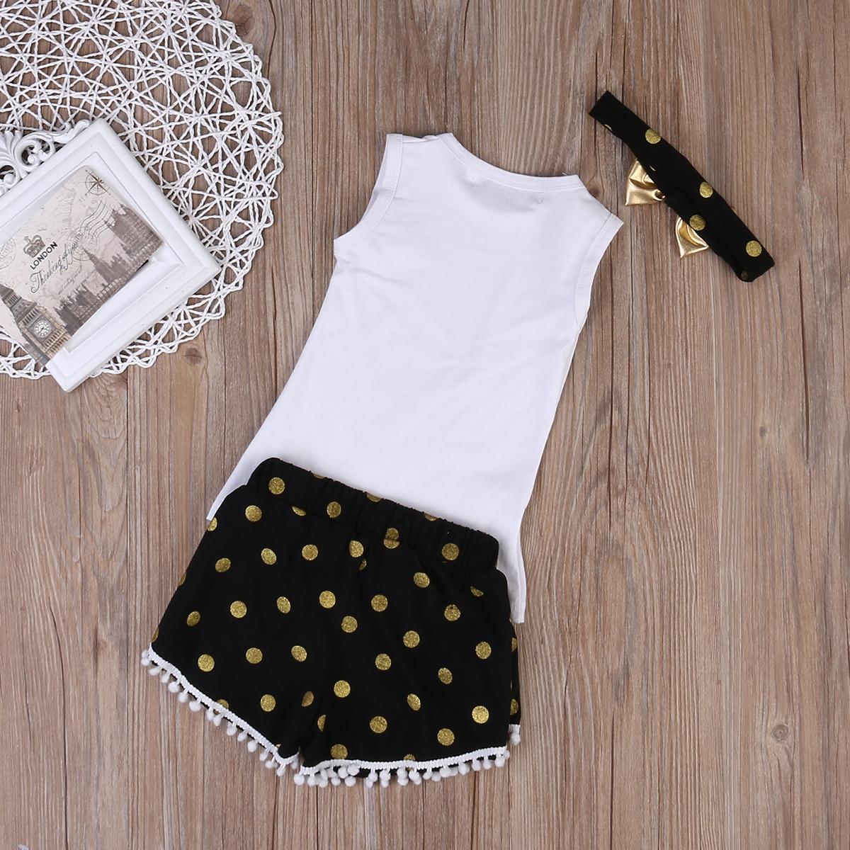 3 st Små flickor sommar fjäderkläder set barn tjej kläder - Barnkläder - Foto 5