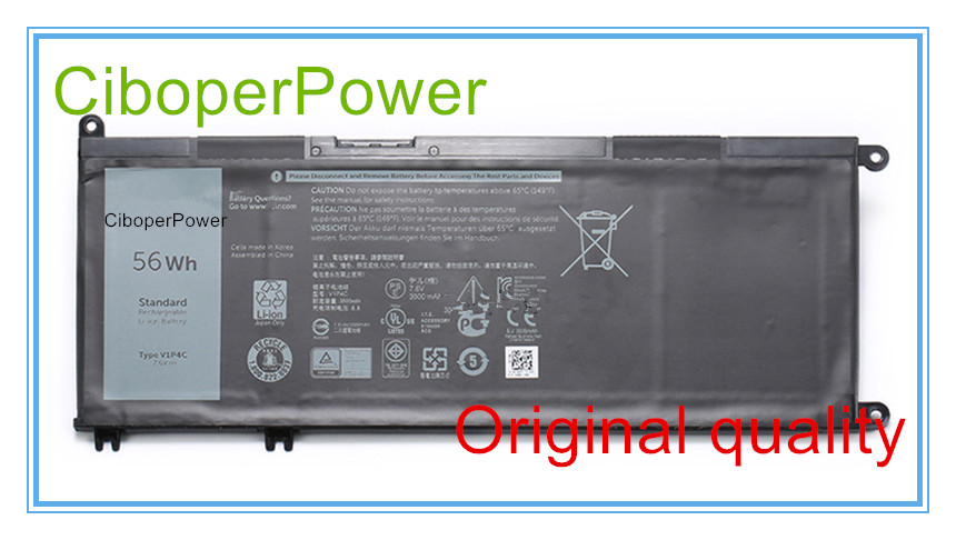 Original laptop battery 7.6V 56Wh V1P4C Laptop Battery for Tablet laptop palmrest