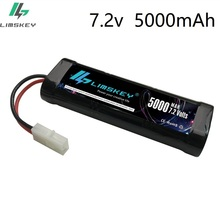 Rechargeable Batteries 7 2V 5000mAh Ni MH with Tamiya Discharge Connector Kep 2p Plug for RC