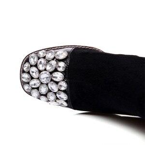 Image 5 - Morazora 2020 Nieuwe Faux Suède Dij Hoge Laarzen Voor Vrouwen Herfst Stretch Over De Knie Laarzen Zwarte Mode Lange Botas vrouw