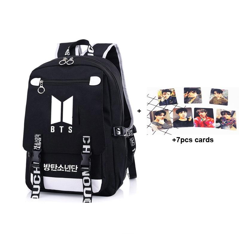2018 New Canvas BTS Backpack School Bag Book Bag BTS Schoolbag For Boys  Girls Satchel Men 409dc7e4eae44