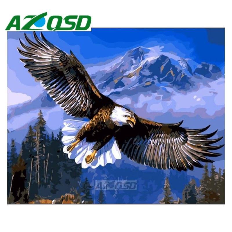 ᑎ‰Azqsd 40x50 cm águila pintura por números acrílico sin marco ...
