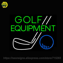 Neon Sign for Golf Equipment Display Handmade Neon Sign Lights Store Advertise Neon Bulb Sign Custom LOGO Signboards Art lamps