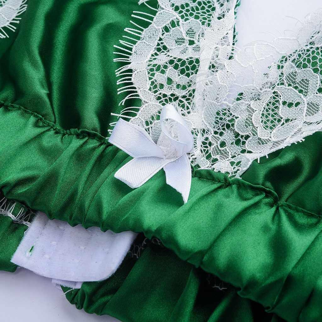 bra set Fashion sexy lingerie Silk Lace Splic Stain Lingerie Bowknot Set Pajamas Bra+Shorts Sleepwear underwear set