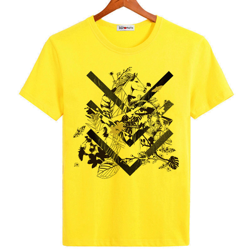 US $7 53 42% OFF BGtomato Abstract art t shirt Brand new trend tops Fashion  tee shirt cool summer rock t shirt men cheap sale tshirt-in T-Shirts from