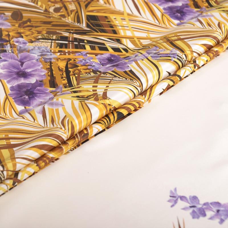 30 мм стрейч тяжелый креп шелковая ткань Рид цифровая печать шелковая стрейч ткань платье Ципао из мягкой ткани платье шелковая ткань 127 см Ш... - 4