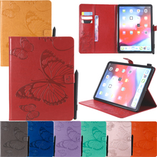 Butterfly Embossed Leather Wallet Flip Tablet Case Cover Skins Shell Coque Funda For Samsung Galaxy Tab A A6 10.1