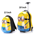 New Fashion, ABS+PC, Cartoon Rolling Luggage , 13 inch Children's Backpack, 18 Inch Boarding Box,  Travel Bag, Suitcase Card