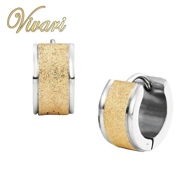Vivari 2017 Women18K Oro Plata 2-Tone de Acero Inoxidable Pendientes de Las Señoras Accesorios Jewellry Envío Gratis Entrega Rápida