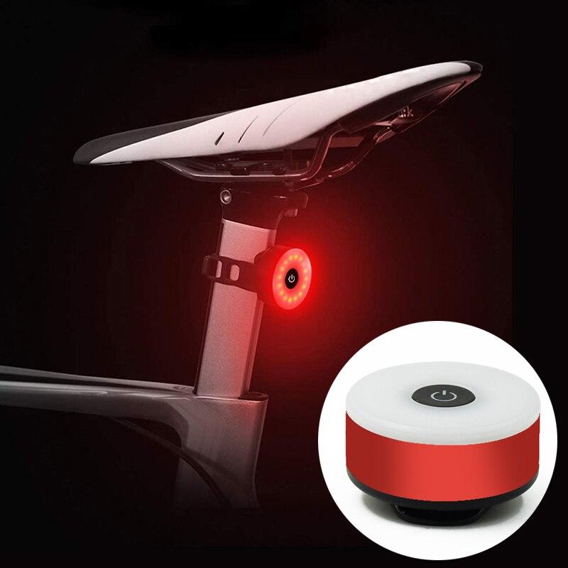 WasaFire Mini bicicleta luz trasera USB linterna recargable luces de advertencia de seguridad accesorios de ciclismo