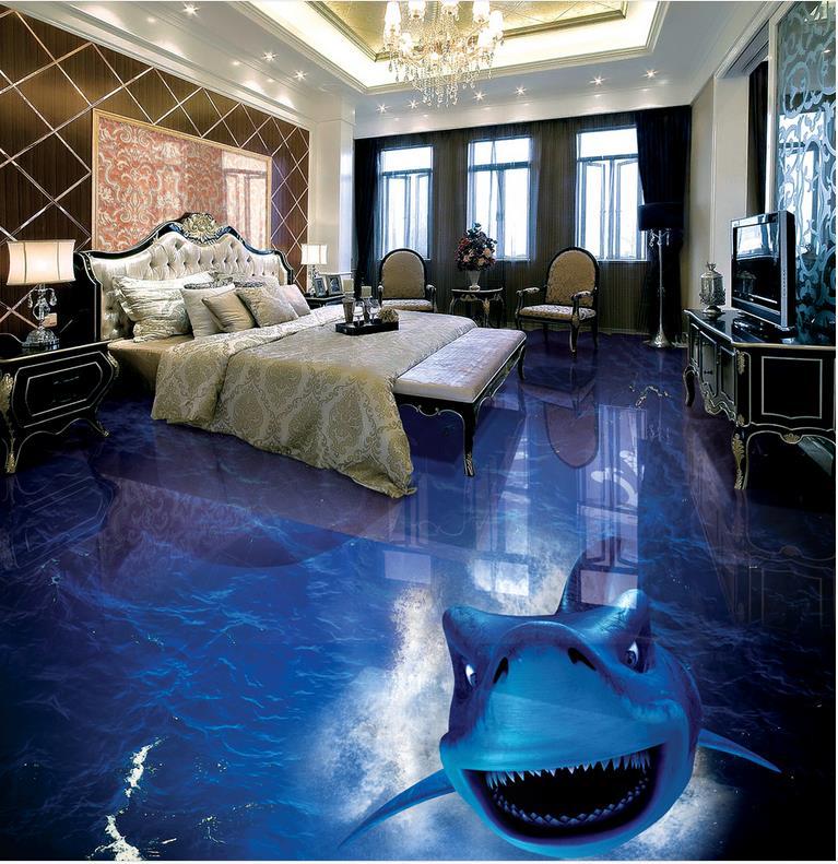 Photo floor wallpaper 3d ocean dolphin PVC waterproof floor Custom Photo self-adhesive 3D floor beibehang custom photo floor painted