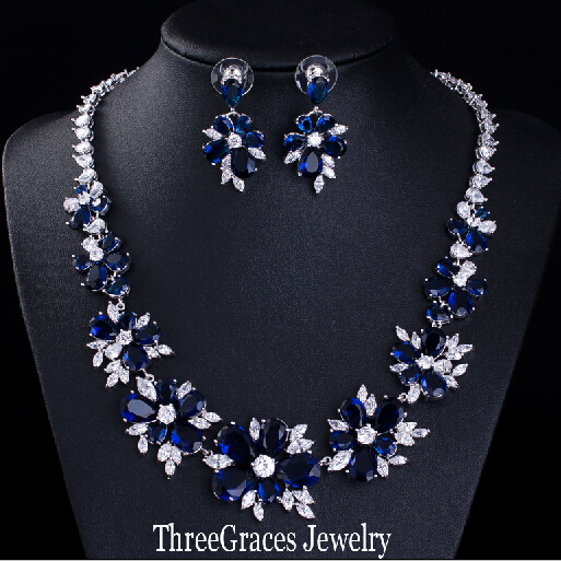 Aliexpresscom Buy ThreeGraces Luxury Bridal CZ Necklace