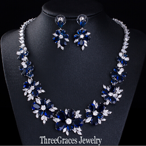 Aliexpress Com Buy Threegraces Luxury Bridal Cz Necklace