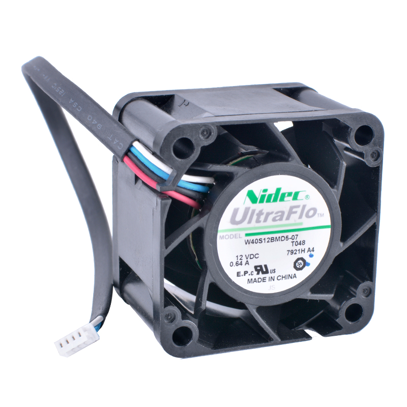 COOLING REVOLUTION W40S12BMD5-07 4cm 40mm fan 4028 12V 0.64A 4-wire 4pin air volume server power cooling fan